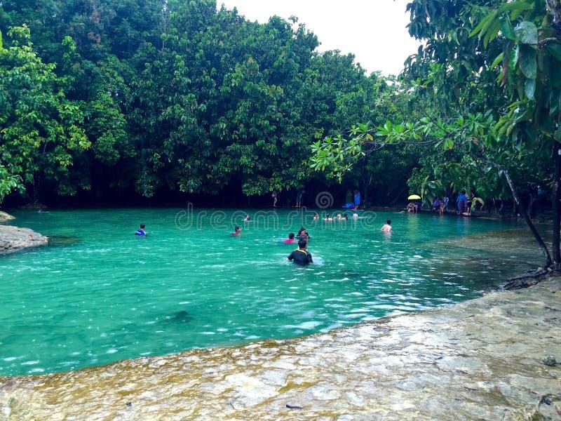 Emerald Pool, Krabi, Tailandia fotos de archivo