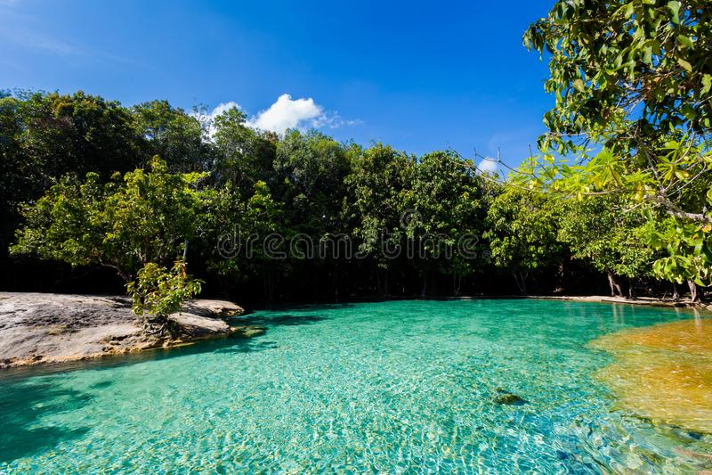 Emerald Pool National Park Krabi royalty free stock images