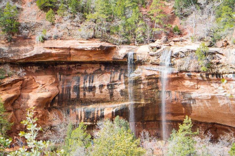 Emerald Pools in Zion National Park, Utah royalty free stock images