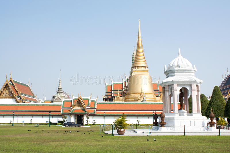 Emerald temple is the landmark of bangkok province (Thailand) stock image