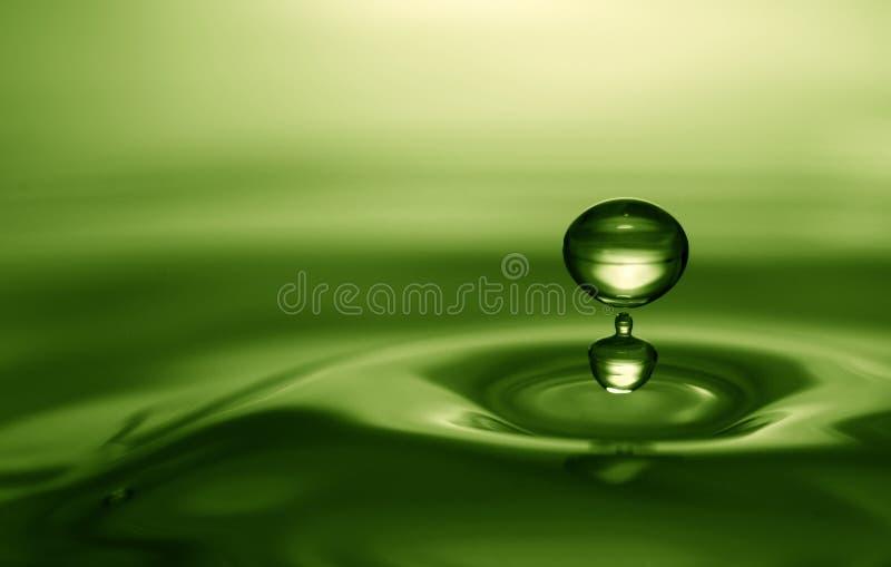 Emerald water drop stock photos