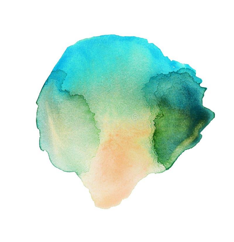 Emerald Watercolor Splash illustrazione di stock