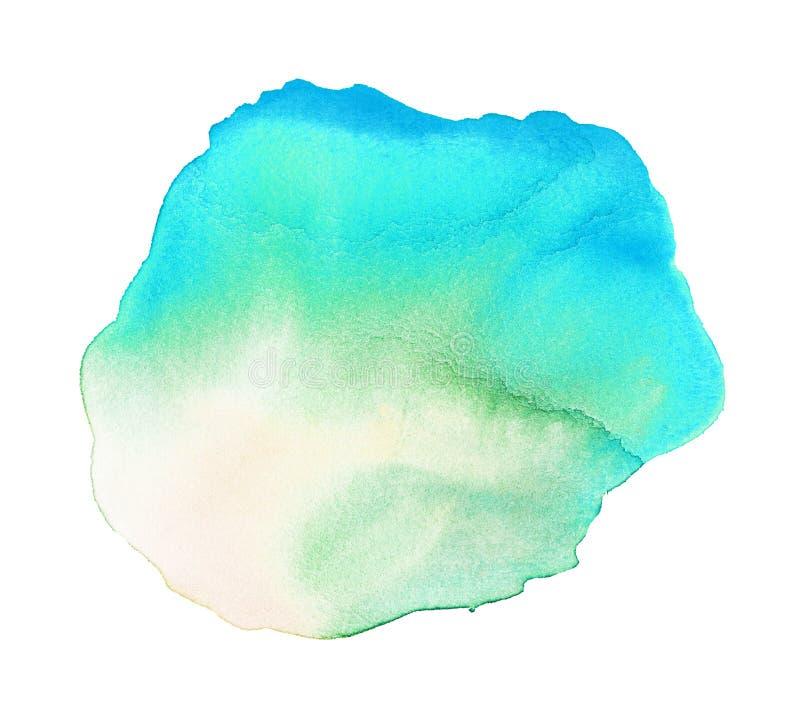 Emerald Watercolor Stain illustrazione di stock