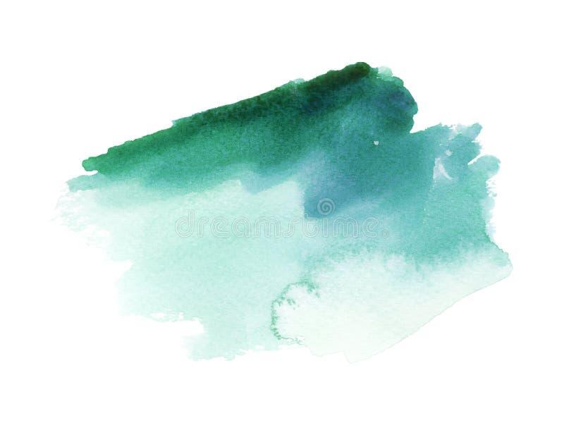 Emerald Watercolor Stain scuro illustrazione vettoriale