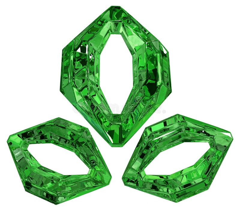 Emerald Zeros royalty-vrije illustratie