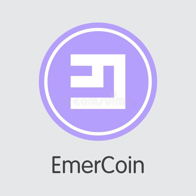 Emercoin Virtual Currency Vector Trading Sign Stock Vector
