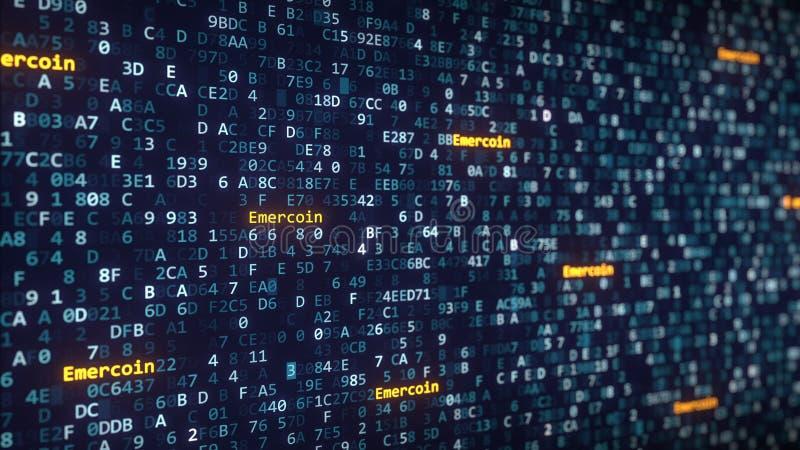 Download Emercointitels Die Onder Veranderende Hexadecimale Symbolen Op Het Computerscherm Verschijnen Het 3d Teruggeven Stock Illustratie - Illustratie bestaande uit elektronisch, computer: 107700626