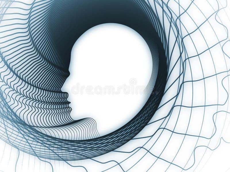 Emergência da geometria da alma ilustração royalty free