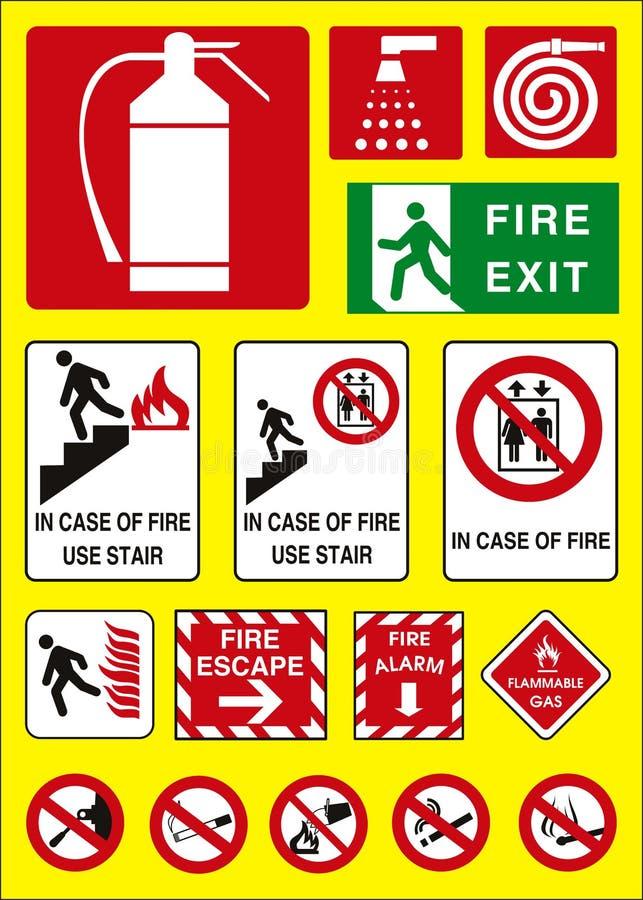 Emergência do sinal do incêndio ilustração royalty free
