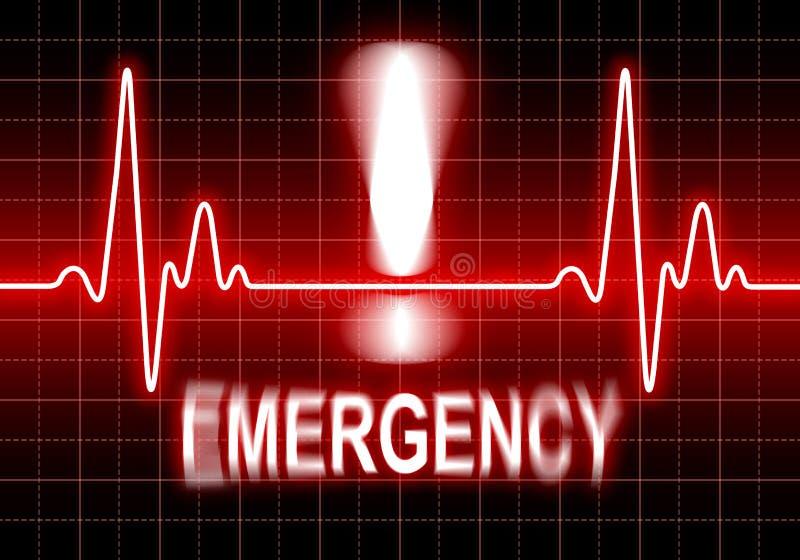 Emergência - problema do coração ilustração stock
