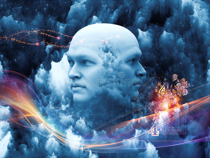 Emergence of the Mind stock illustration
