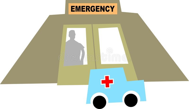 Emergencia stock de ilustración