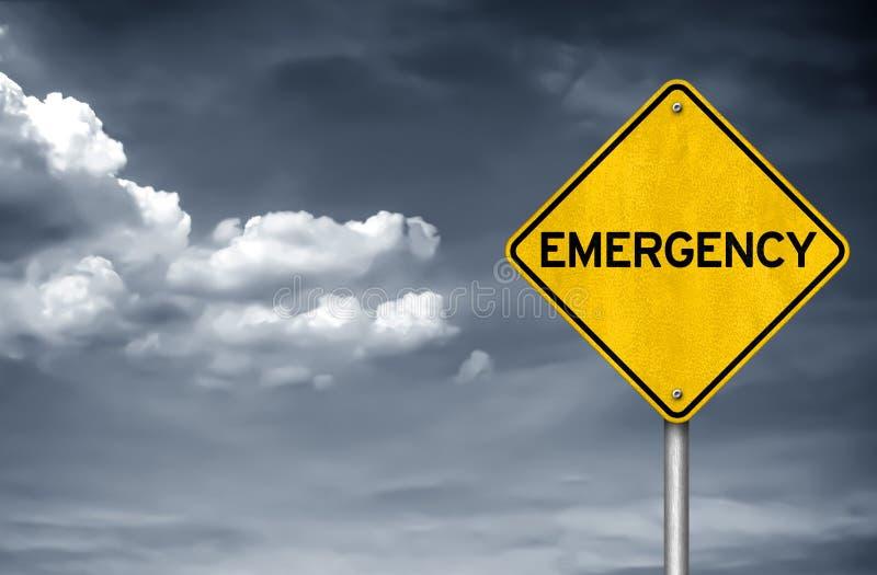 Emergencia - concepto de la señal de tráfico ilustración del vector
