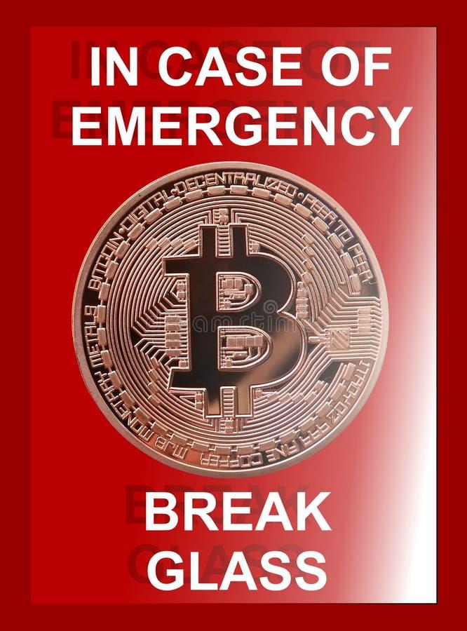 Emergencia de Bitcoin stock de ilustración