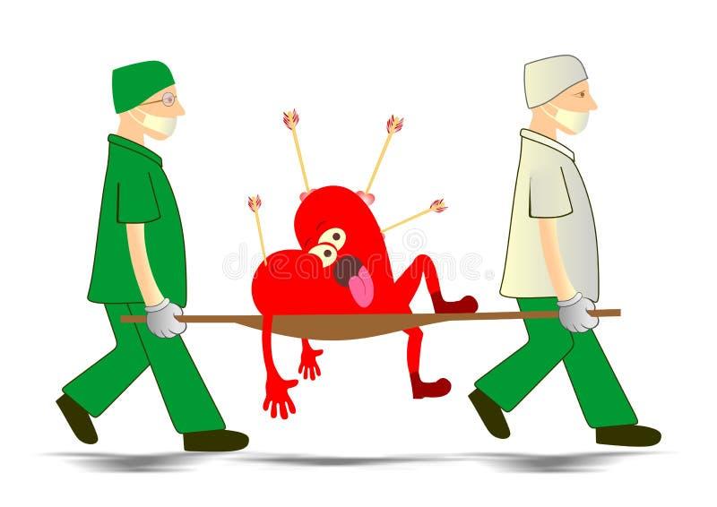 Emergencia del corazón stock de ilustración