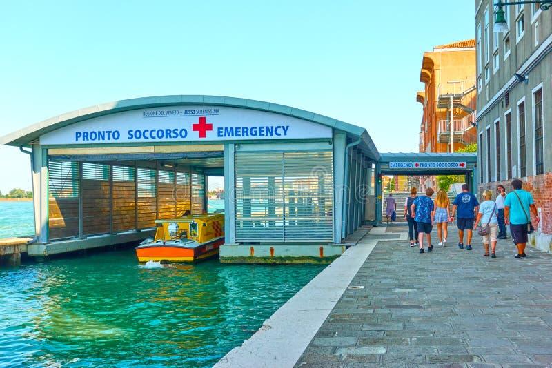 Emergencia en Venecia fotos de archivo