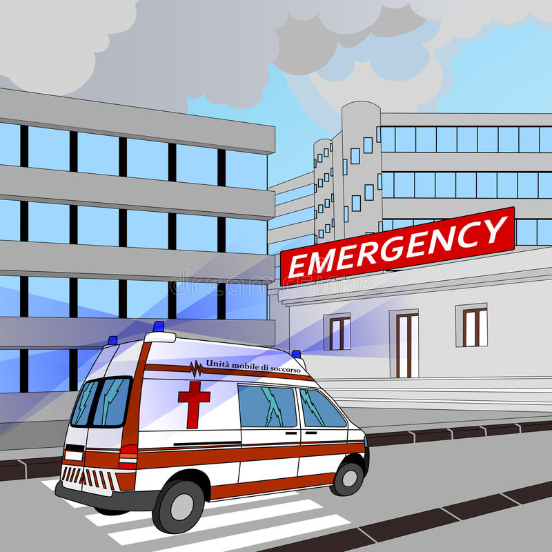 Download Emergency stock vector. Image of accident, flashing, paramedics - 26511527