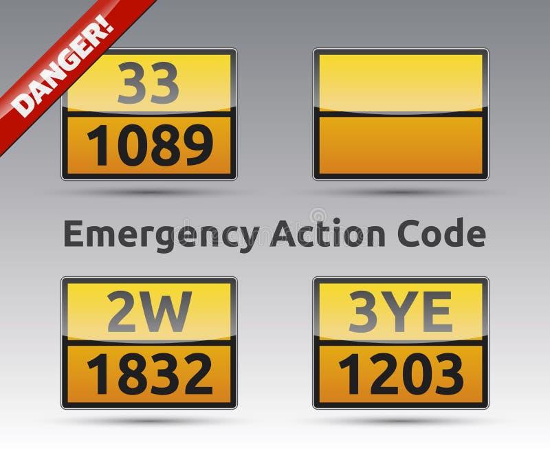 Emergency Action Code royalty free illustration