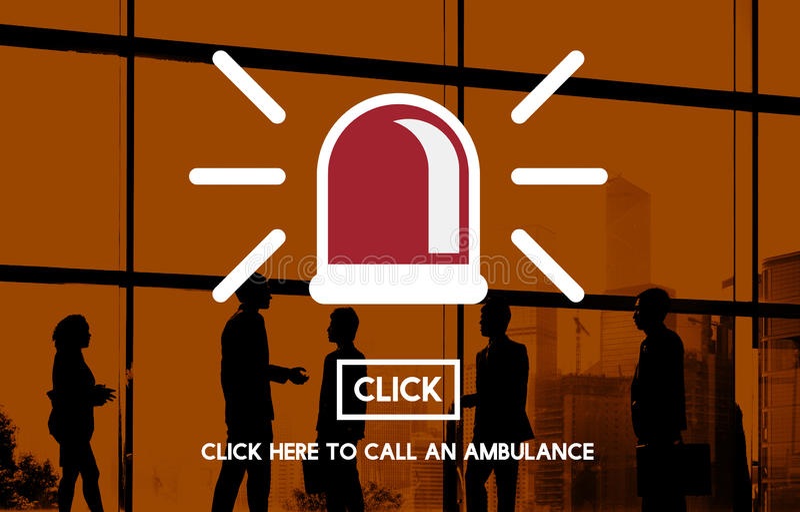 Emergency Ambulance Siren Icon Concept stock images