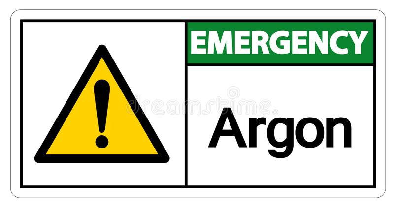 Emergency Argon Symbol Sign Isolate On White Background,Vector Illustration. Element, design, icon, gas, chemical, chemistry, isolated, science, helium vector illustration