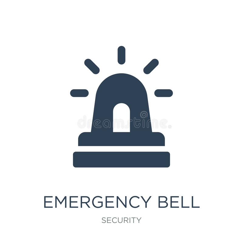 Emergency bell icon in trendy design style. emergency bell icon isolated on white background. emergency bell vector icon simple. And modern flat symbol for web vector illustration