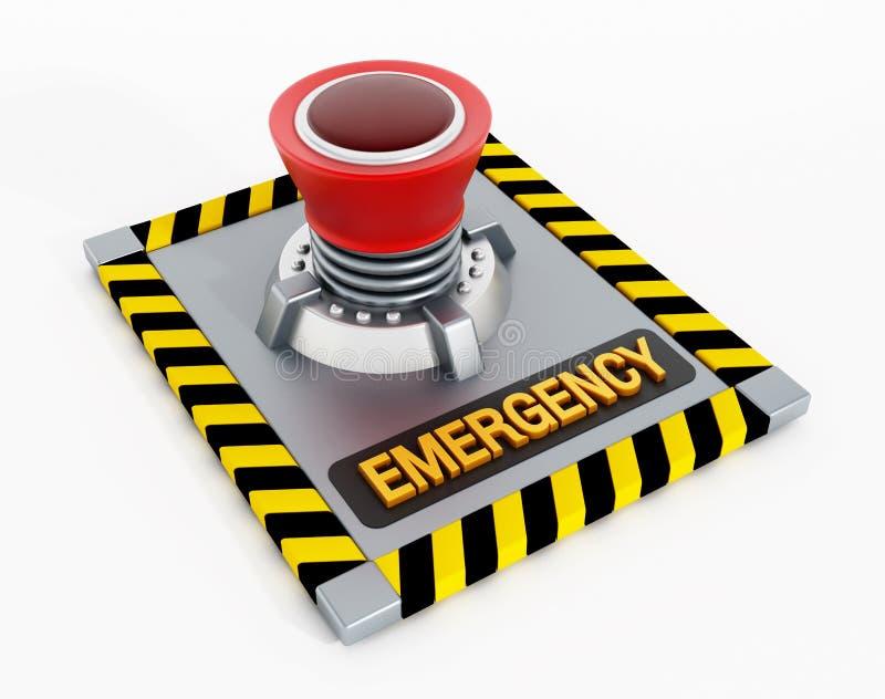 Emergency button stock illustration