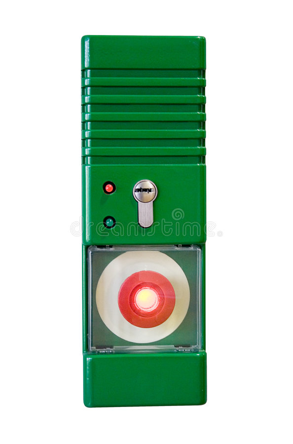 Emergency Button W/ Path (Front View) Royalty Free Stock Image