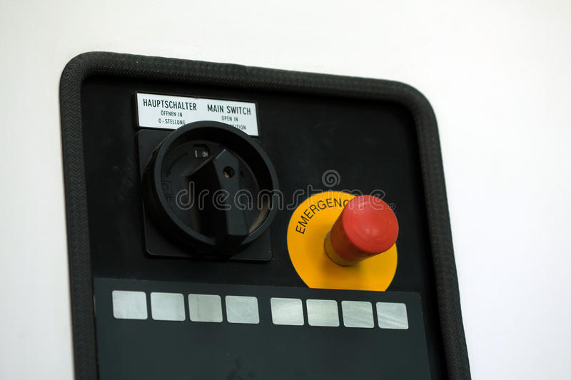 Emergency call button on control panel royalty free stock images