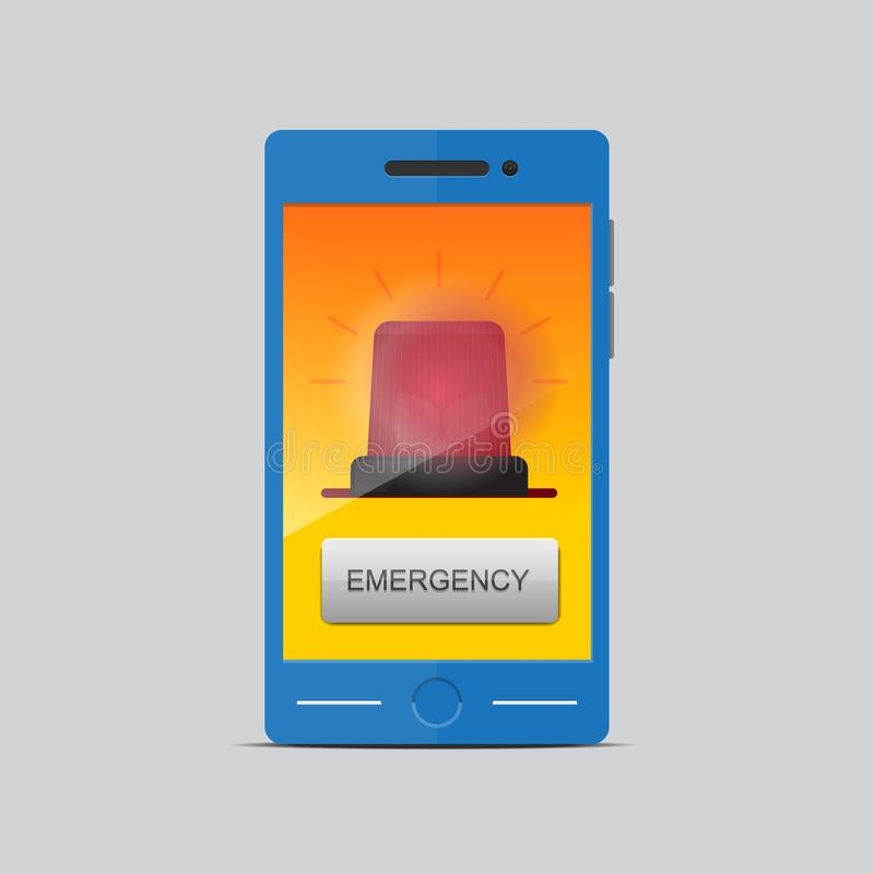 Emergency call concept. Vector illustration royalty free illustration