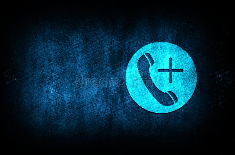 Emergency call icon abstract blue background illustration digital texture design concept. Emergency call icon abstract blue background illustration dark blue stock illustration