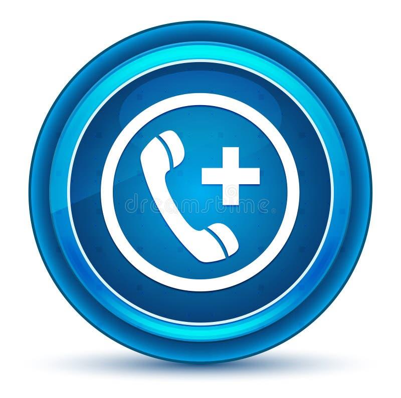 Emergency call icon eyeball blue round button stock illustration