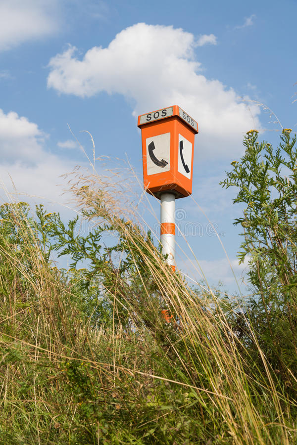 Download Emergency Call Post In A Rural Landscape Stock Image - Image: 26037743