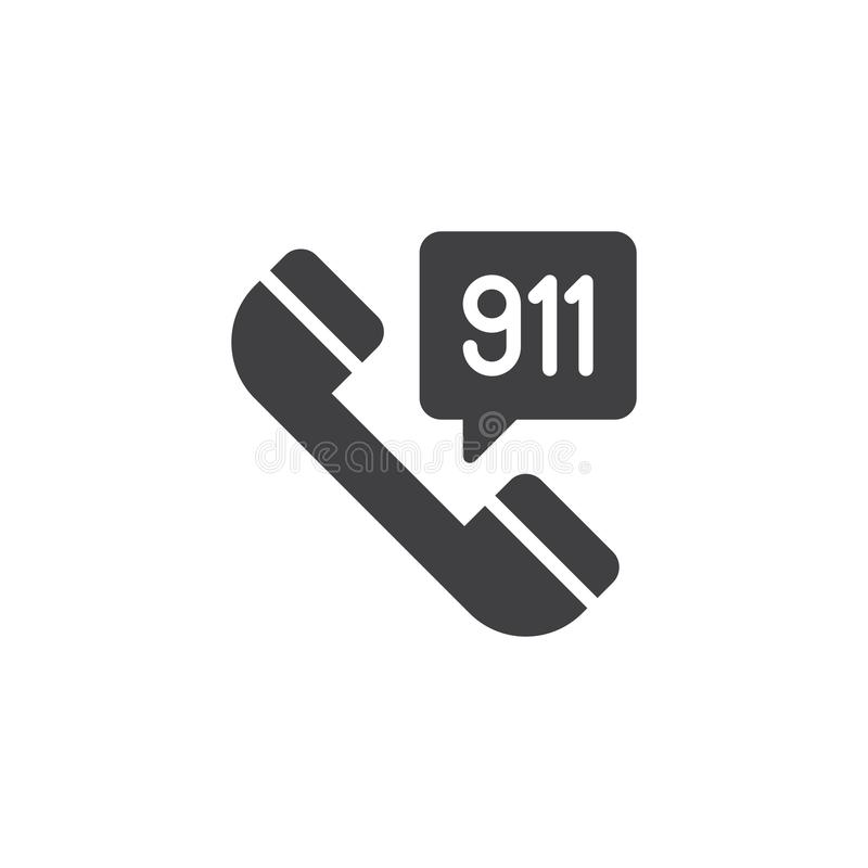 Emergency call vector icon royalty free illustration