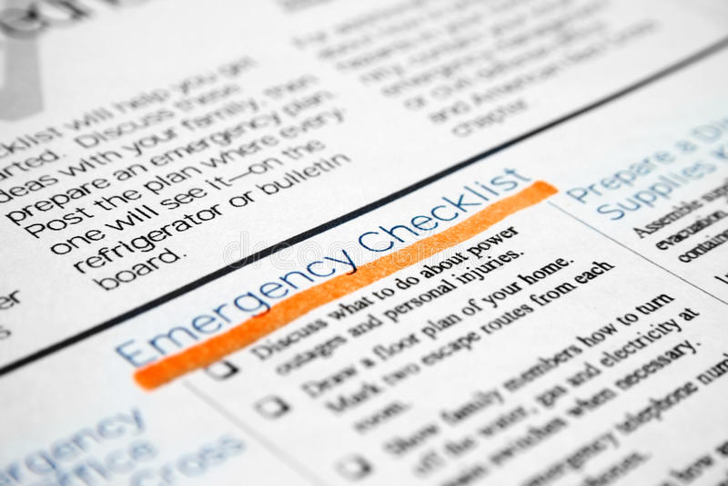 Download Emergency checklist stock photo. Image of cardiac, listen - 16565062