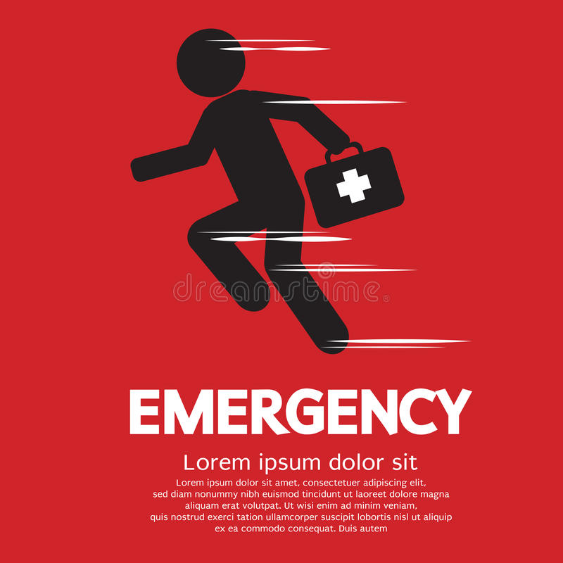Emergency Concept. Emergency Sign Concept Vector Illustration royalty free illustration