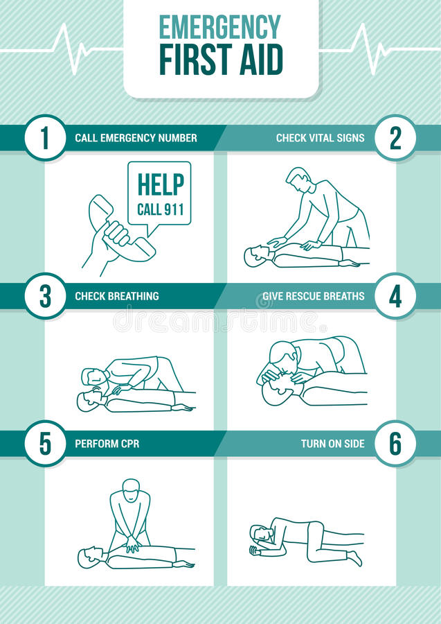 Emergency cpr first aid royalty free illustration