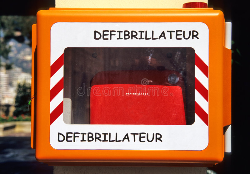 Emergency Defibrillator stock image
