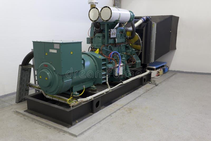 Emergency diesel generator stock photography