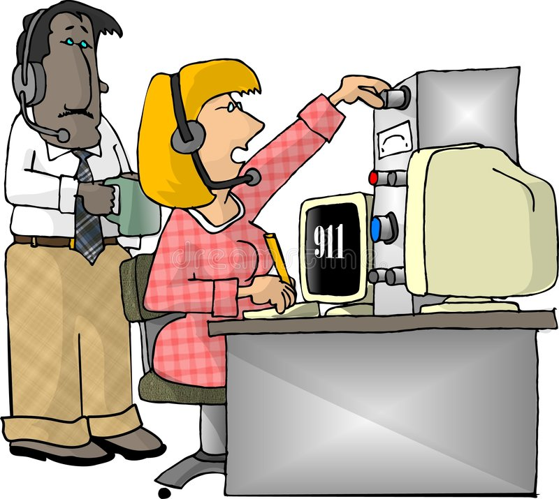 Emergency Dispatchers royalty free illustration