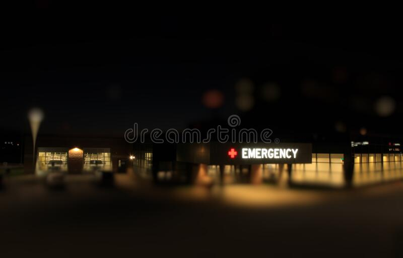 Emergency entrance hospital stock image