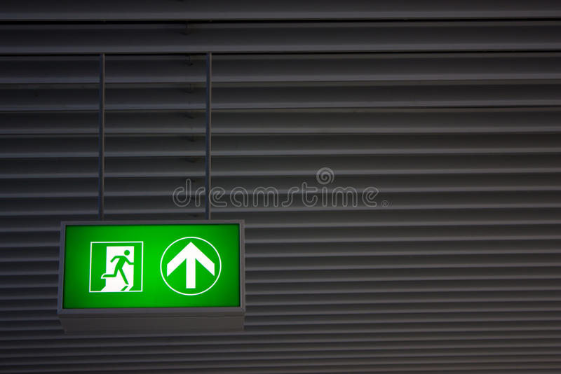 Download Emergency Exit stock photo. Image of green, interior - 24534600