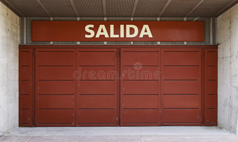 Download Emergency exit stock image. Image of lobby, salida, open - 25412661