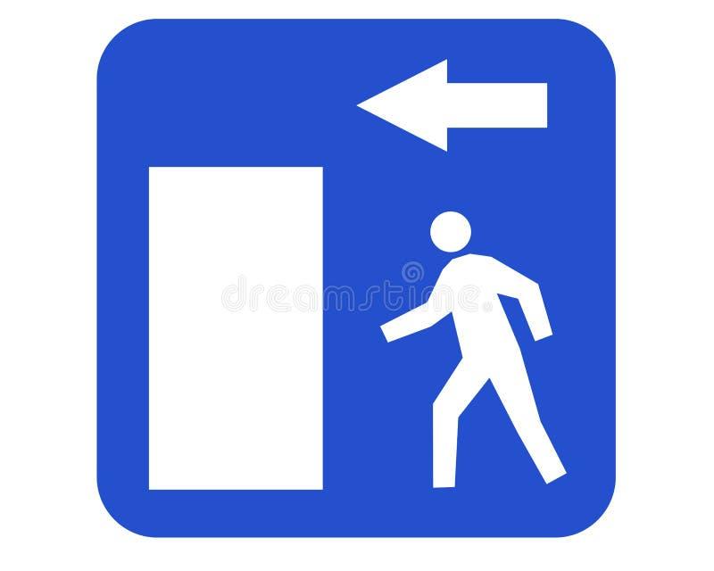 Emergency exit royalty free illustration