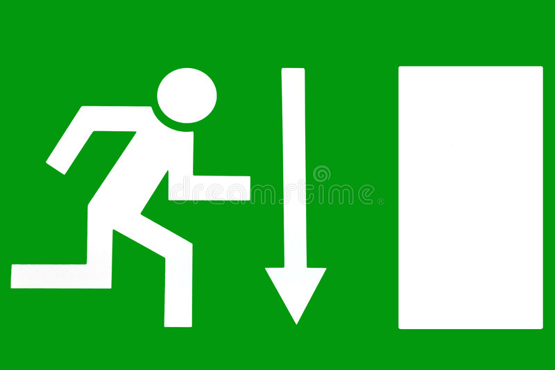 Emergency Exit - Escape Route royalty free stock photos