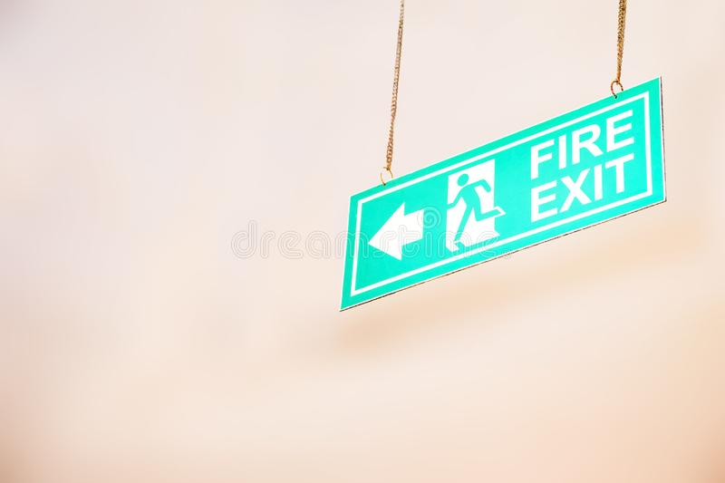 Emergency exit,fire alarm,Fire exit sign and in the blurred background Fire Sprinkler Life Safety. Emergency exit,fire alarm,Fire exit sign and in the blurred stock photos
