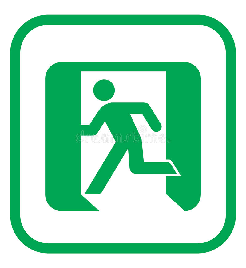 Emergency exit icon royalty free illustration