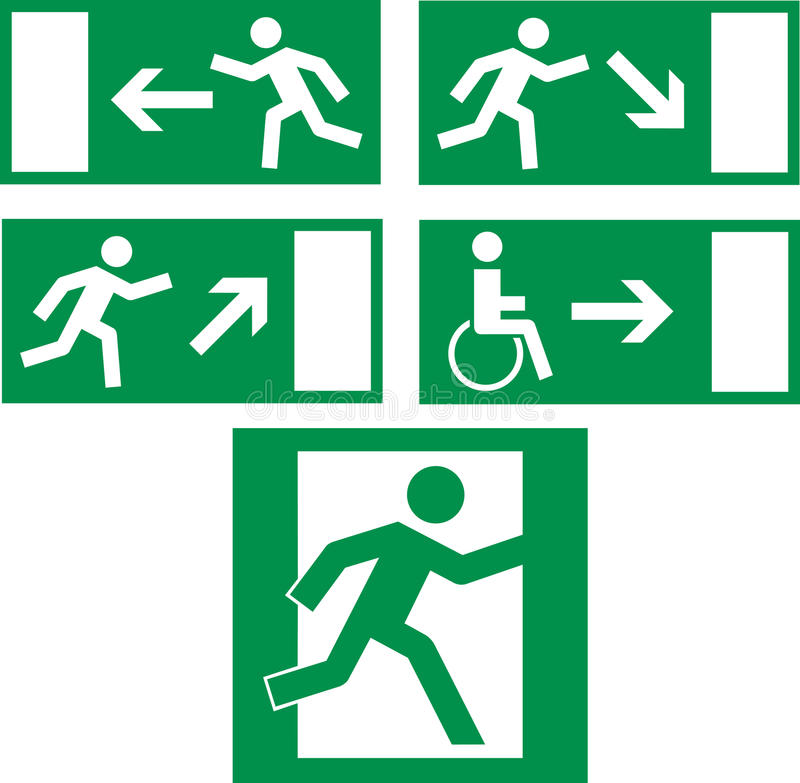 Free Emergency Exit Icons Royalty Free Stock Photos - 11811868