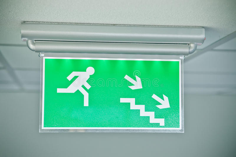 Download Emergency Exit Sign Stock Photography - Image: 13541212