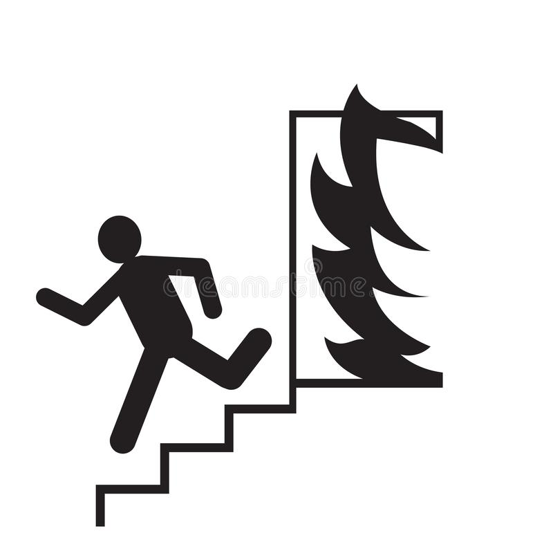 Free Emergency Exit Silhouette Man Running Signs Vector Illustration.security Fire Exit Icon.People Escape Royalty Free Stock Image - 128721416