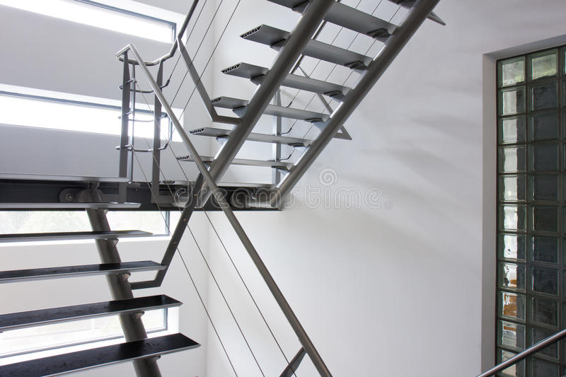 Emergency Exit By A Stairwell In A Modern Building Stock Photo